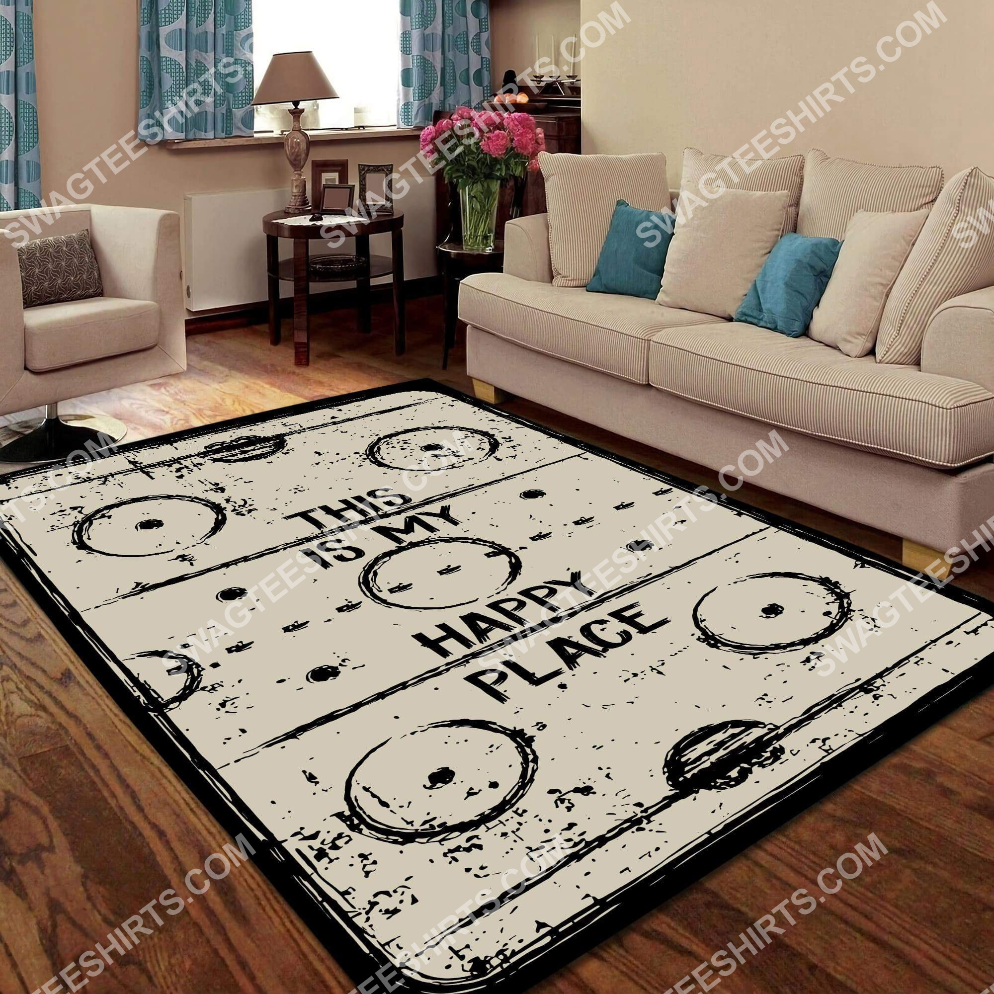 this is my happy place rectangle hockey all over printed rug 5(1) - Copy