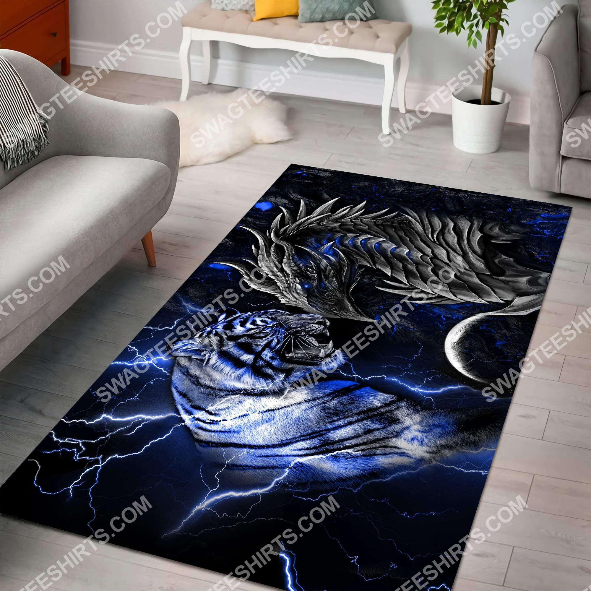 thunder dragon and tiger all over printed rug 2(1) - Copy