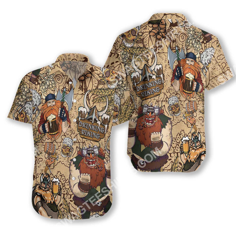 viking drinking beer all over printed hawaiian shirt 2(1)