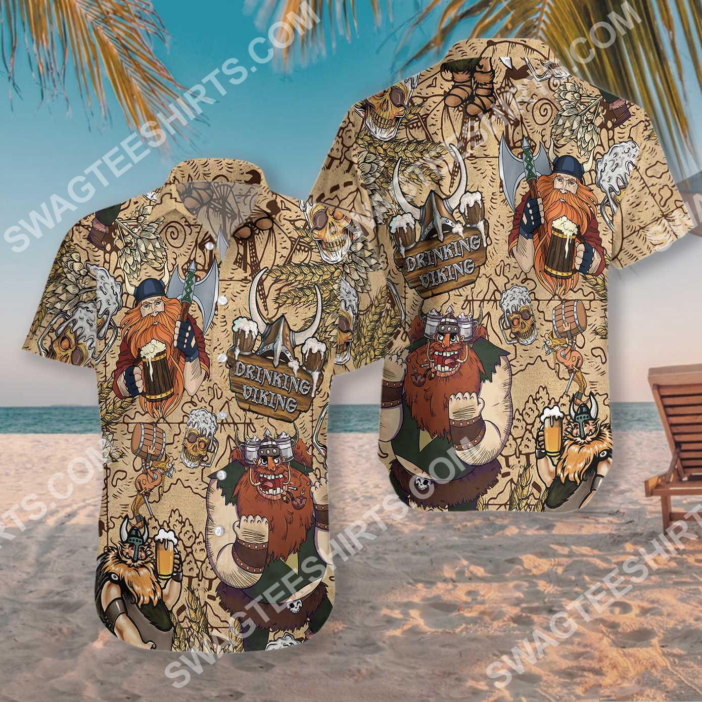 viking drinking beer all over printed hawaiian shirt 3(1)