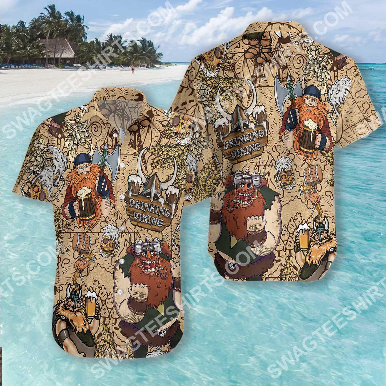 viking drinking beer all over printed hawaiian shirt 4(1)