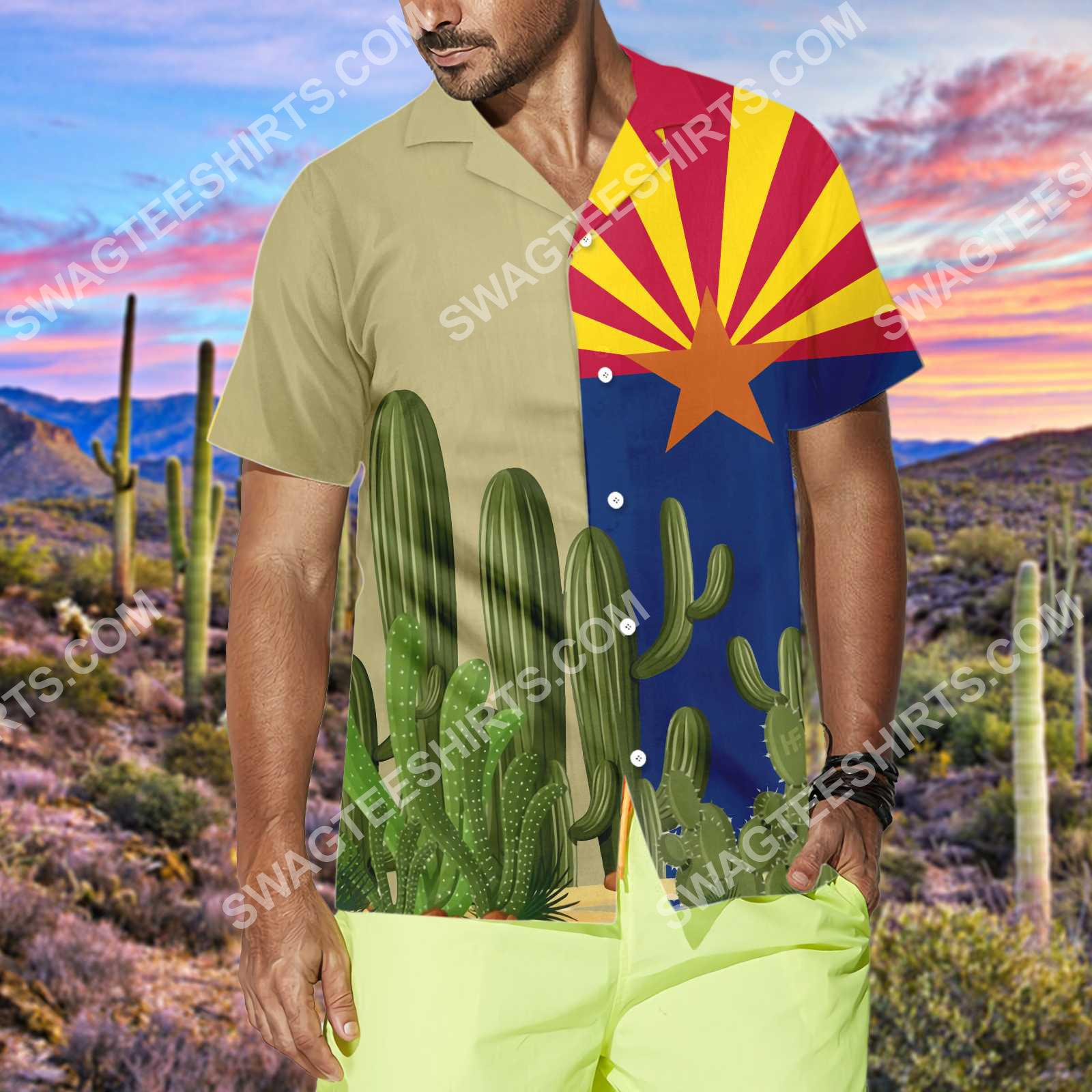 vintage arizona flag all over printed hawaiian shirt 3(1)