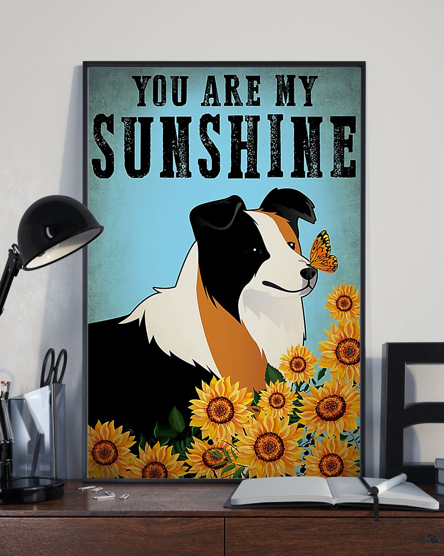 vintage border collie you are my sunshine poster 3