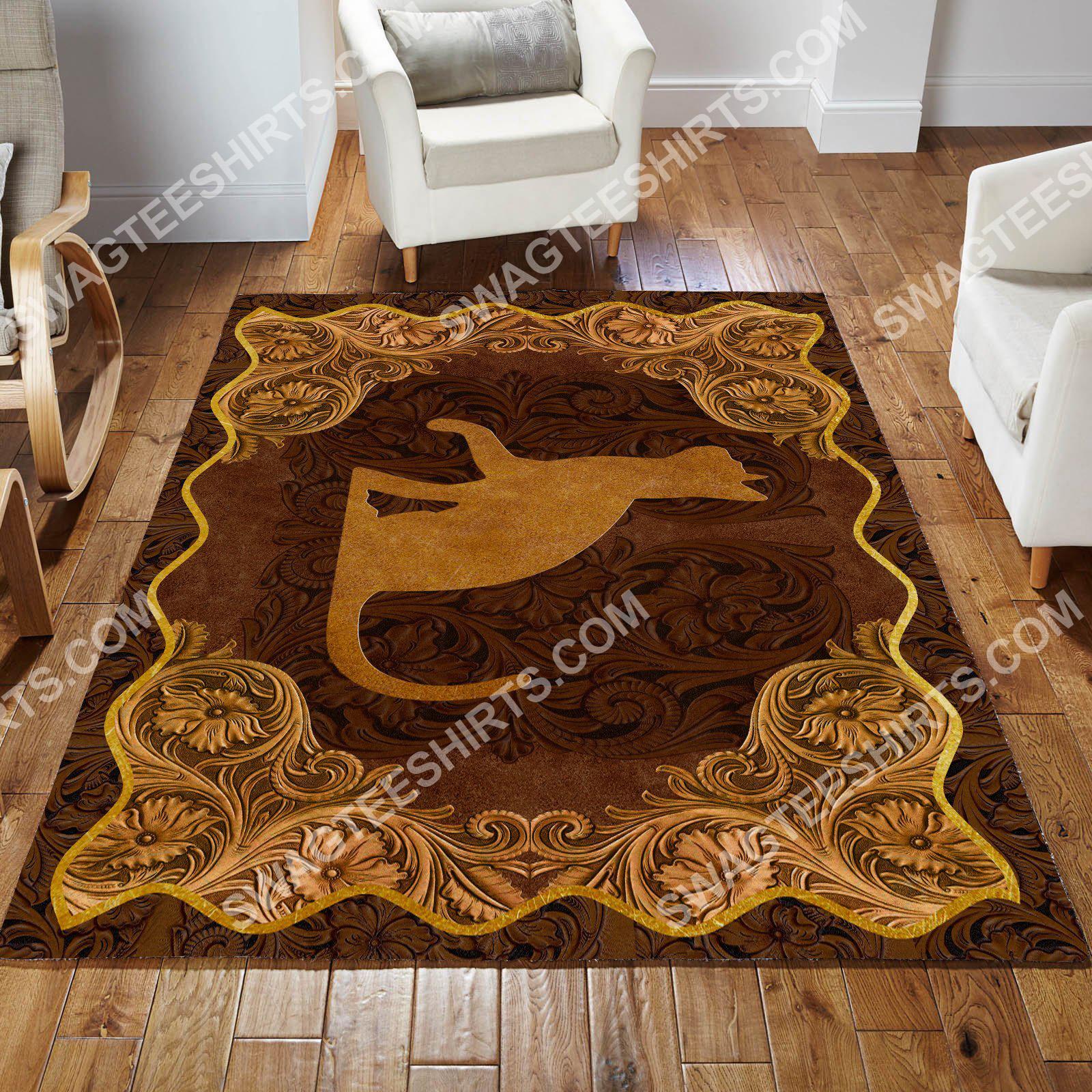 vintage cat antique golden all over printed rug 4(1)