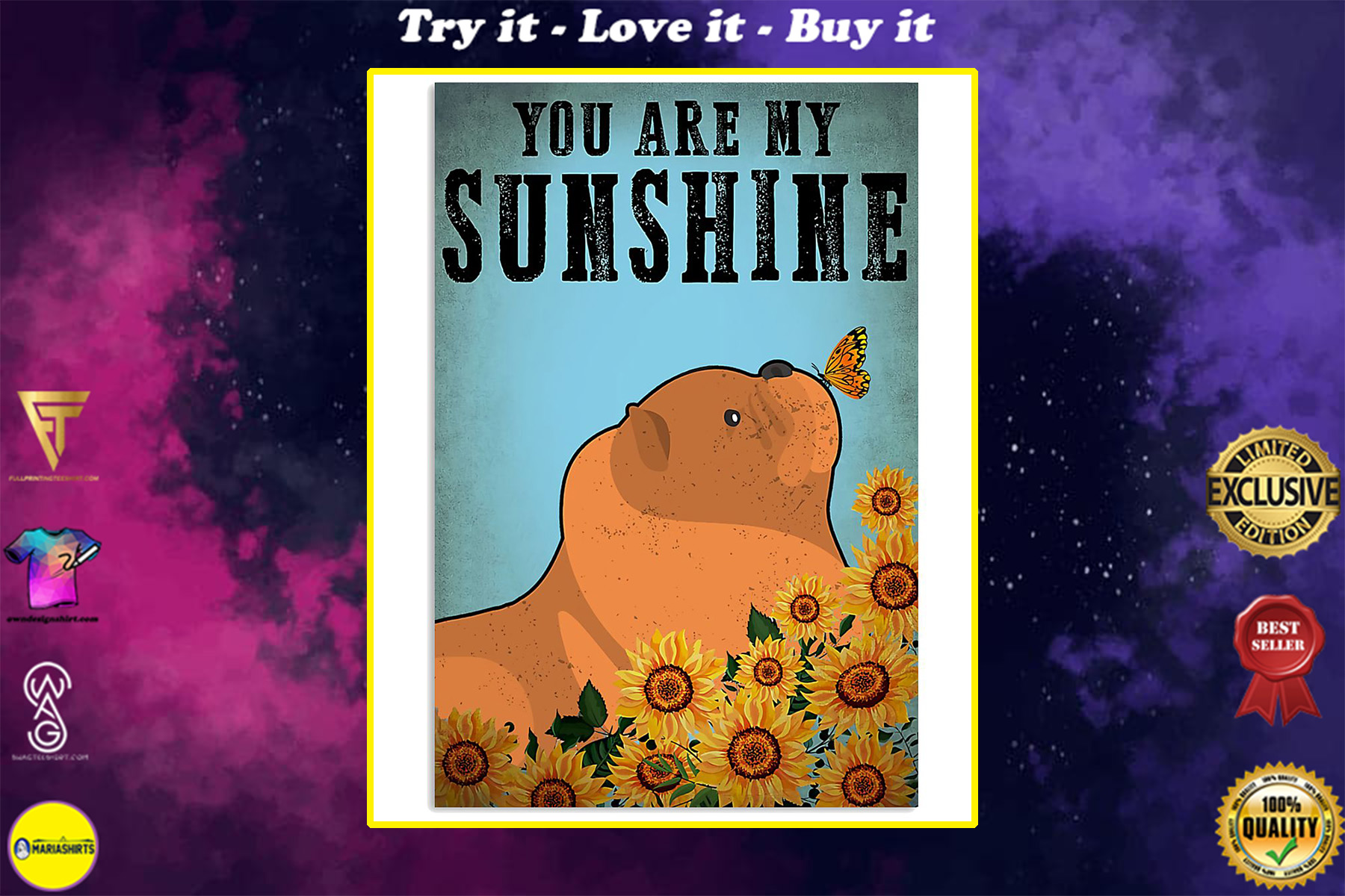 vintage chow chow you are my sunshine poster