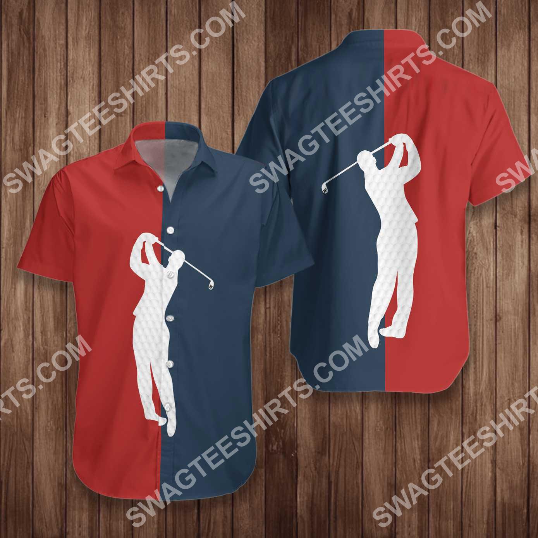 vintage golf lover all over printed hawaiian shirt 3(1)