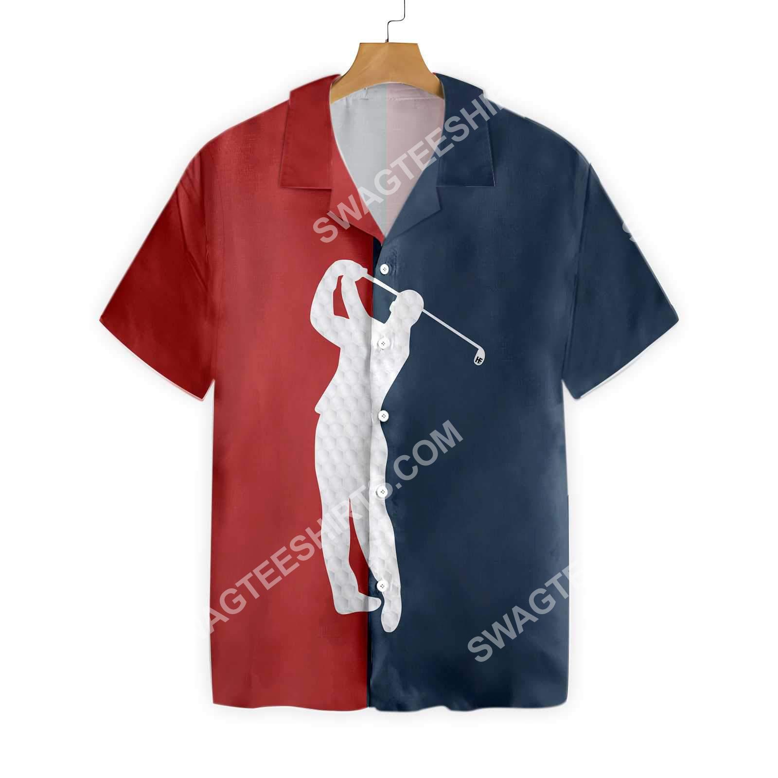 vintage golf lover all over printed hawaiian shirt 5(1)
