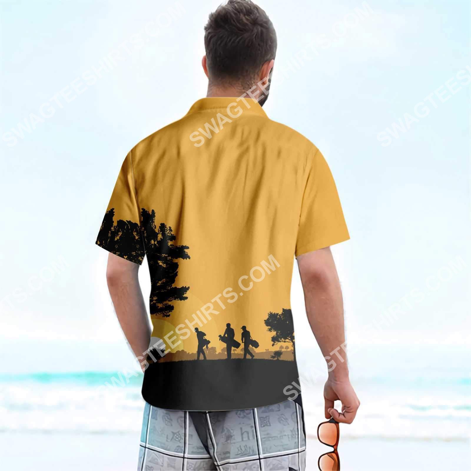 vintage golfers at dusk all over printed hawaiian shirt 5(1)