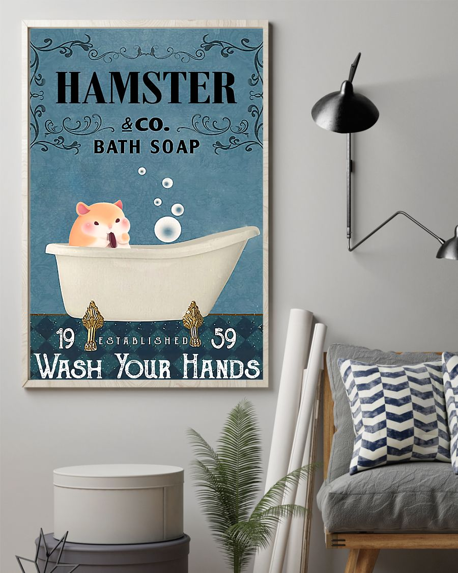 vintage hamster company bath soap wash your hands poster 2