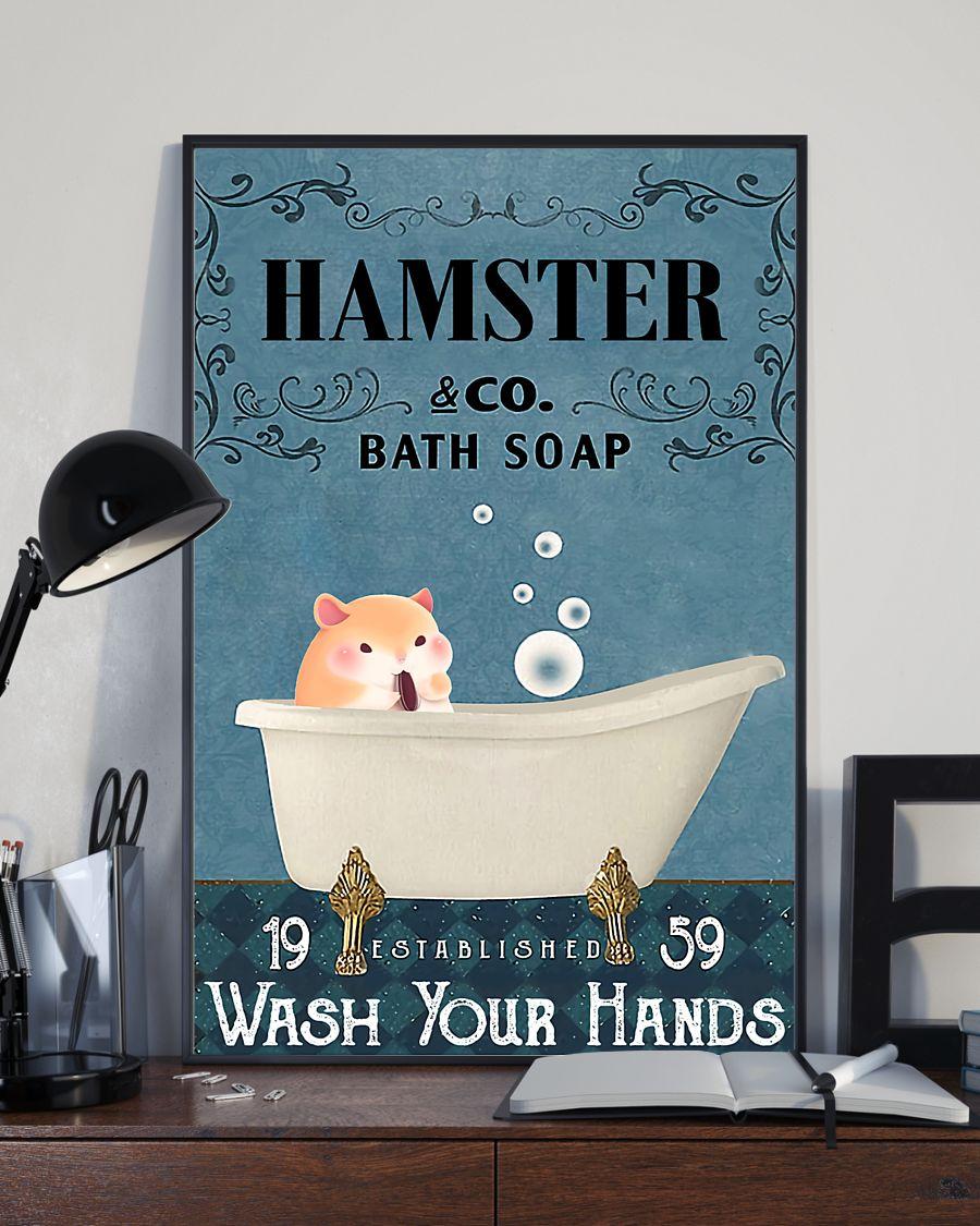 vintage hamster company bath soap wash your hands poster 3
