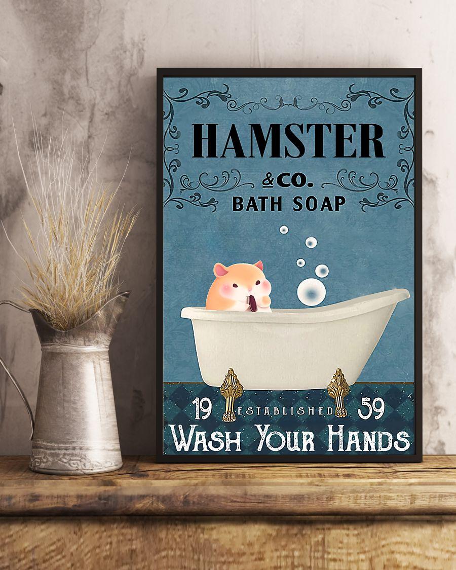 vintage hamster company bath soap wash your hands poster 5