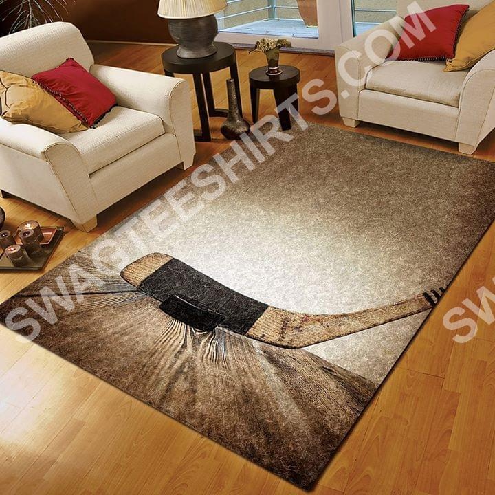 vintage hockey lovers all over printed rug 2(1)