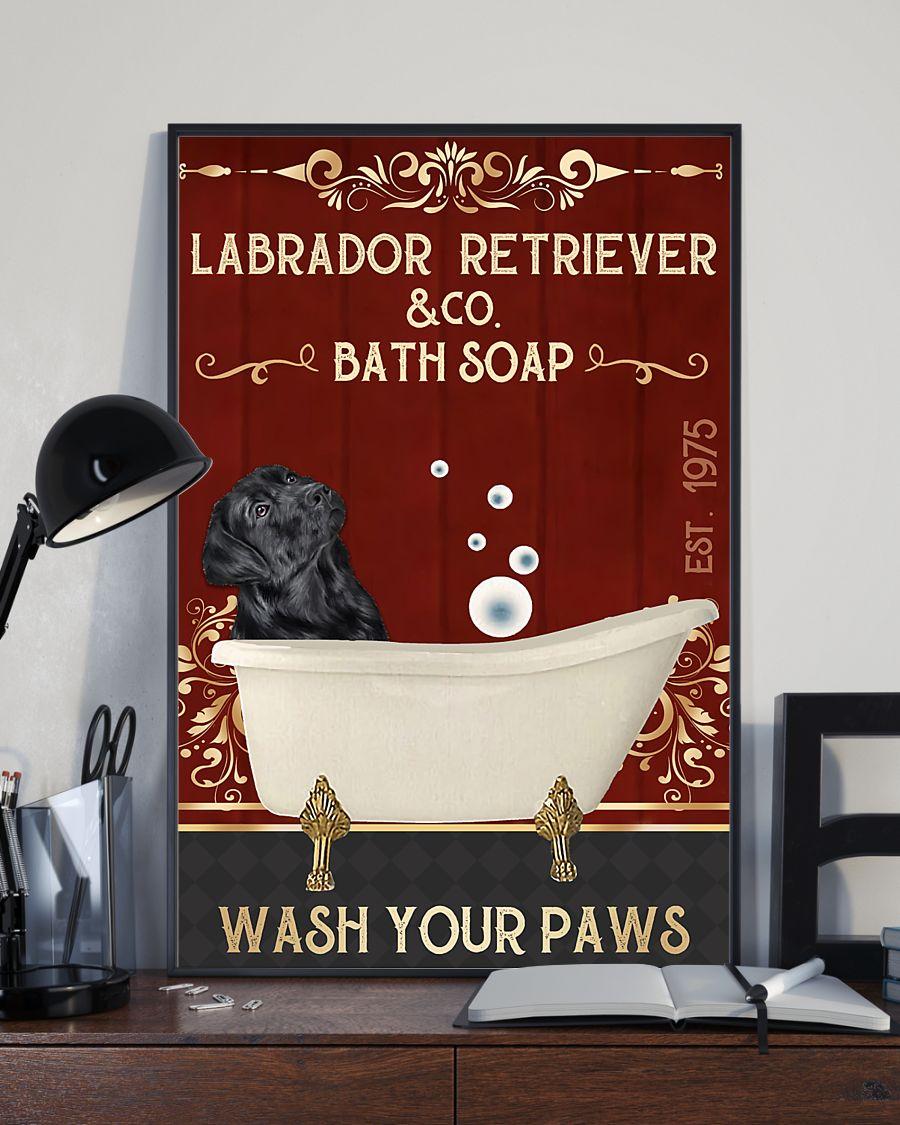 vintage labrador retriever company bath soap wash your paws poster 3