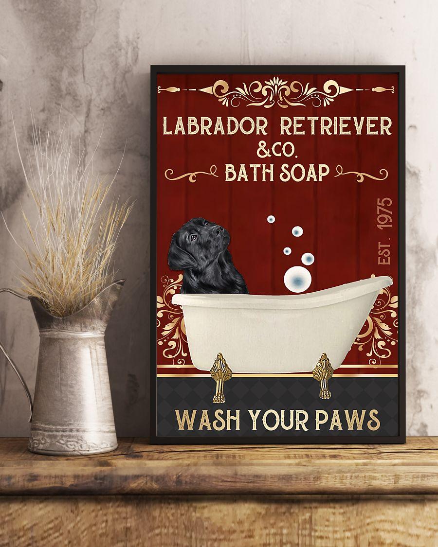 vintage labrador retriever company bath soap wash your paws poster 5