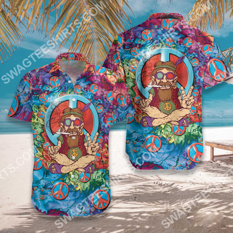 vintage old man hippie all over printed hawaiian shirt 2(1)