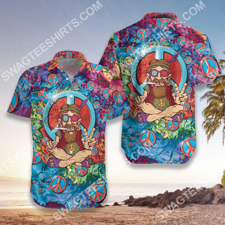 vintage old man hippie all over printed hawaiian shirt 3(1)
