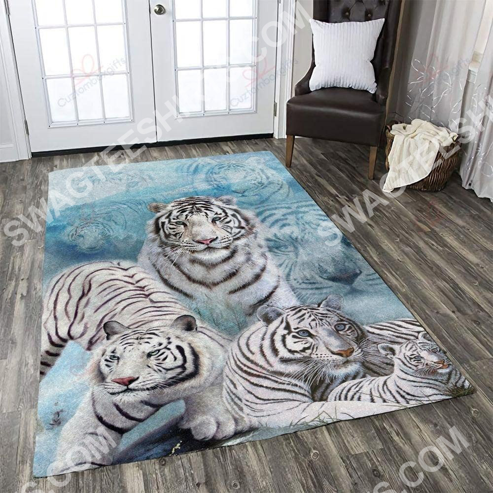 white tiger art all over printed rug 2(1)