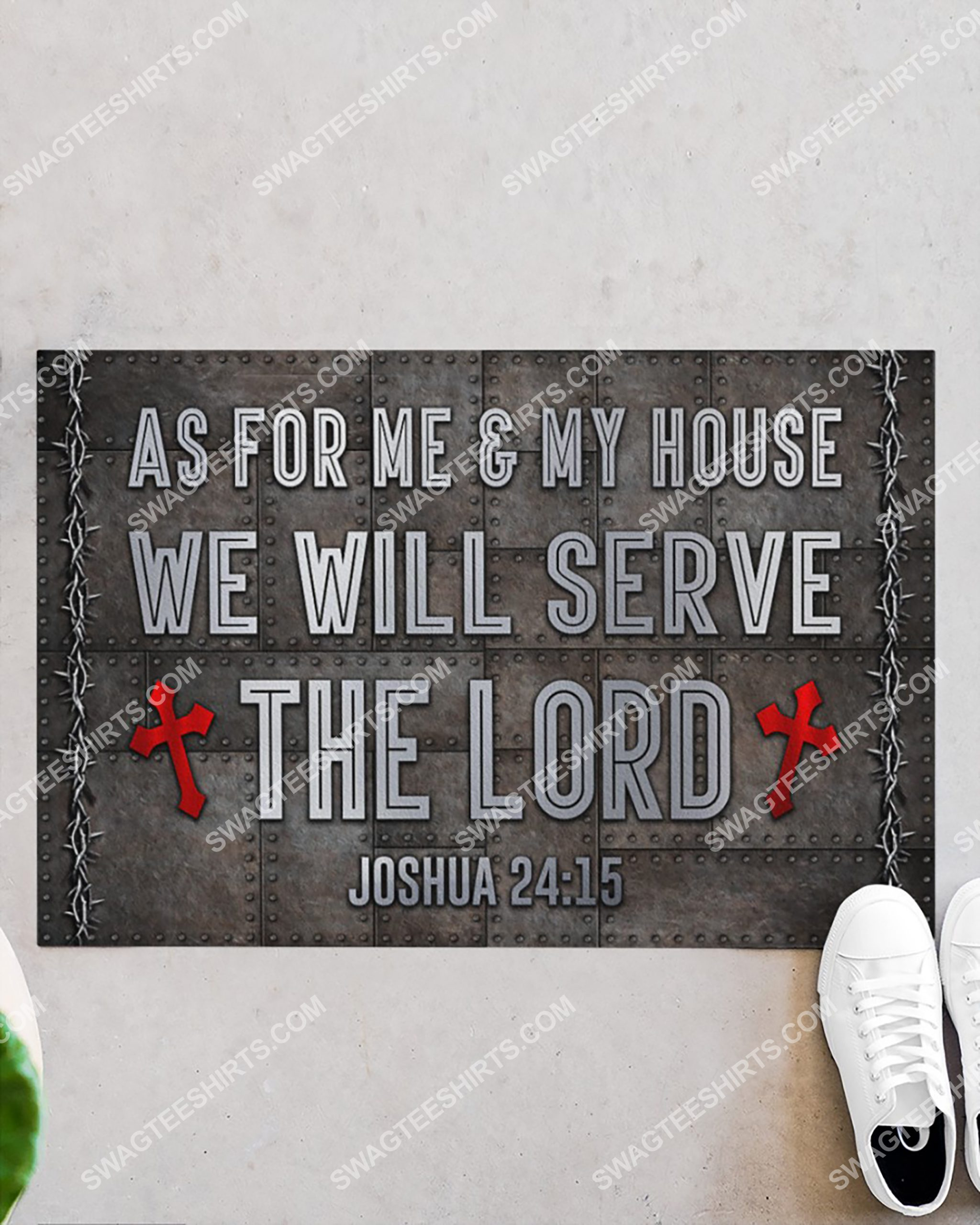 as for me and my house we will serve the Lord doormat 2(1)