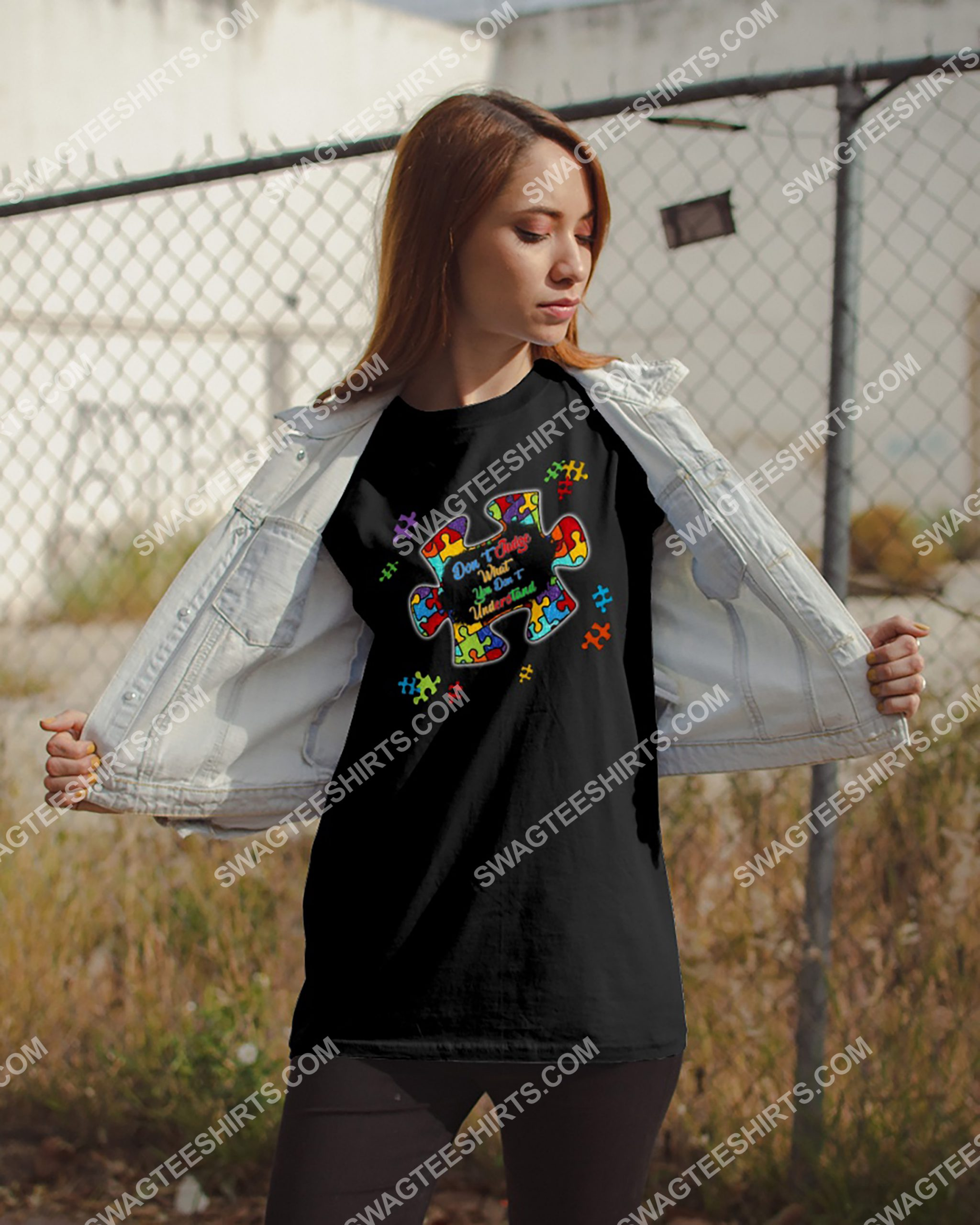 don't judge what you don't understand autism awareness shirt 2(1) - Copy