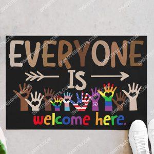 lgbt everyone is welcome here doormat 2(1)