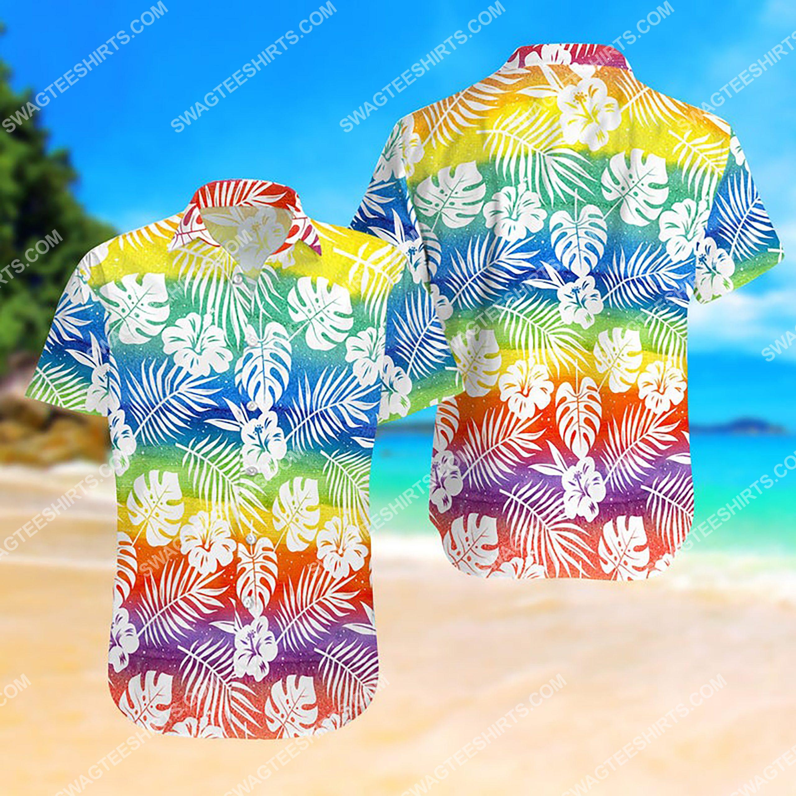 lgbt summer vacation all over print hawaiian shirt 3
