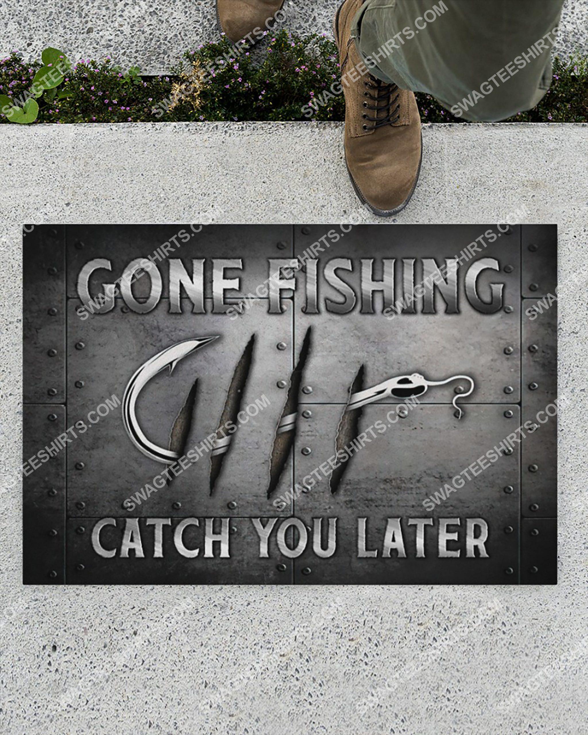 love fishing gone fishing catch you later doormat 2(1)
