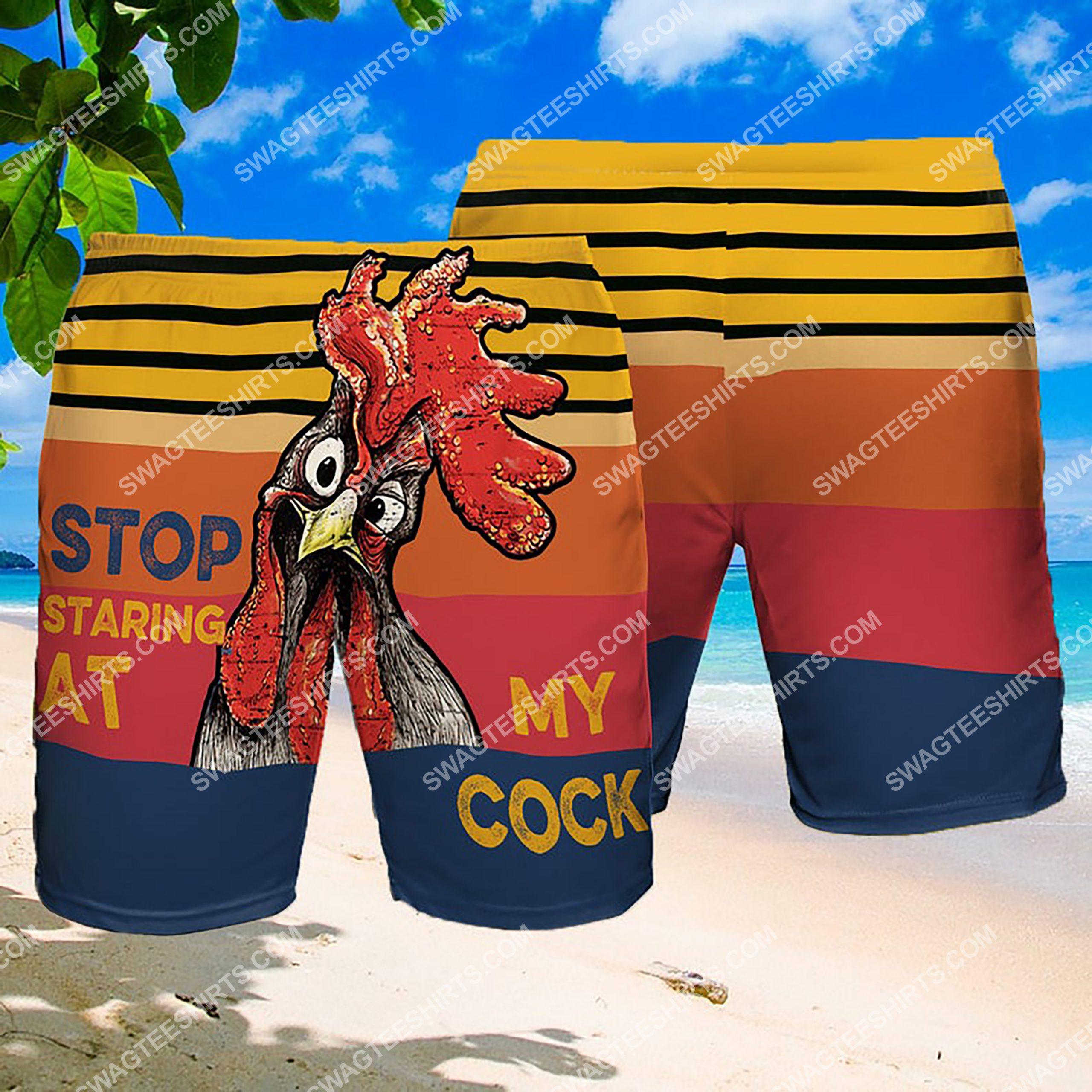 stop staring at my cock summer beach shorts 3 - Copy