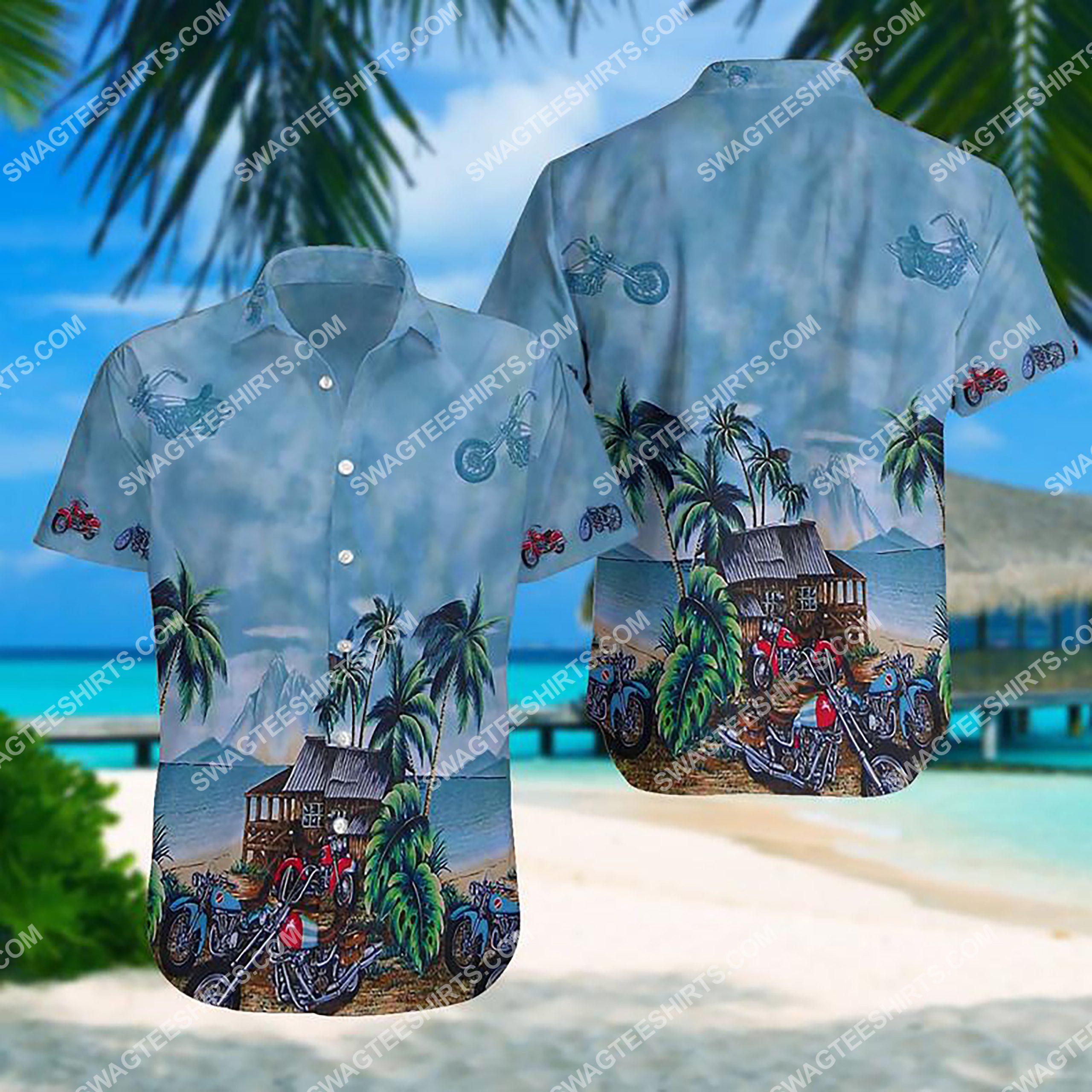 summer time motorcycle all over print hawaiian shirt 3 - Copy