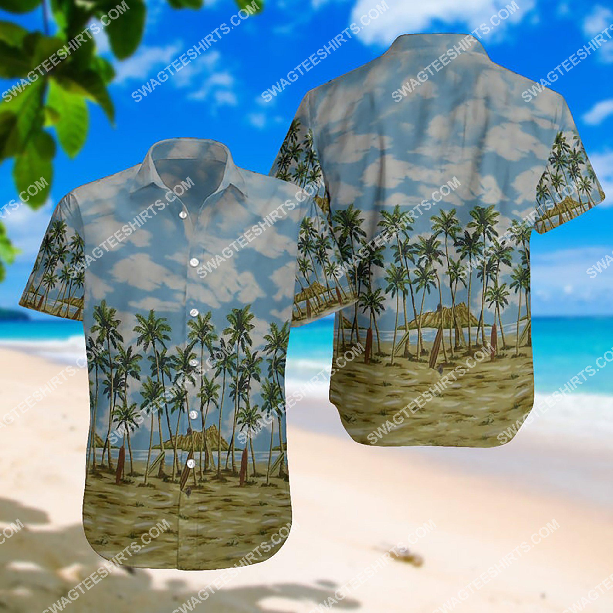 summer time the beach all over print hawaiian shirt 3