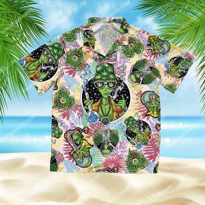 summer time tropical alien cannabis all over print hawaiian shirt 2(1) - Copy