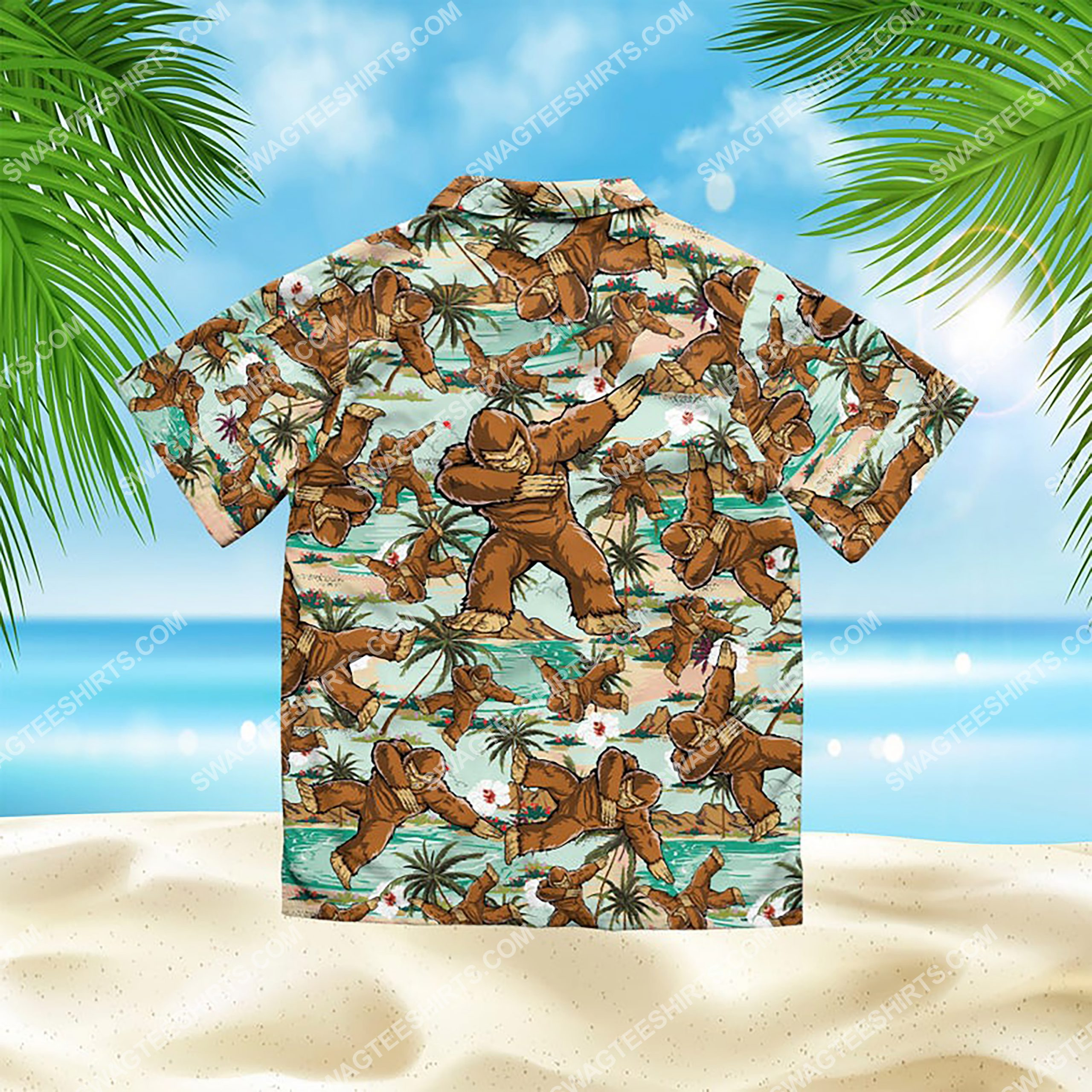 the bigfoot dabbing all over print hawaiian shirt 3(1)
