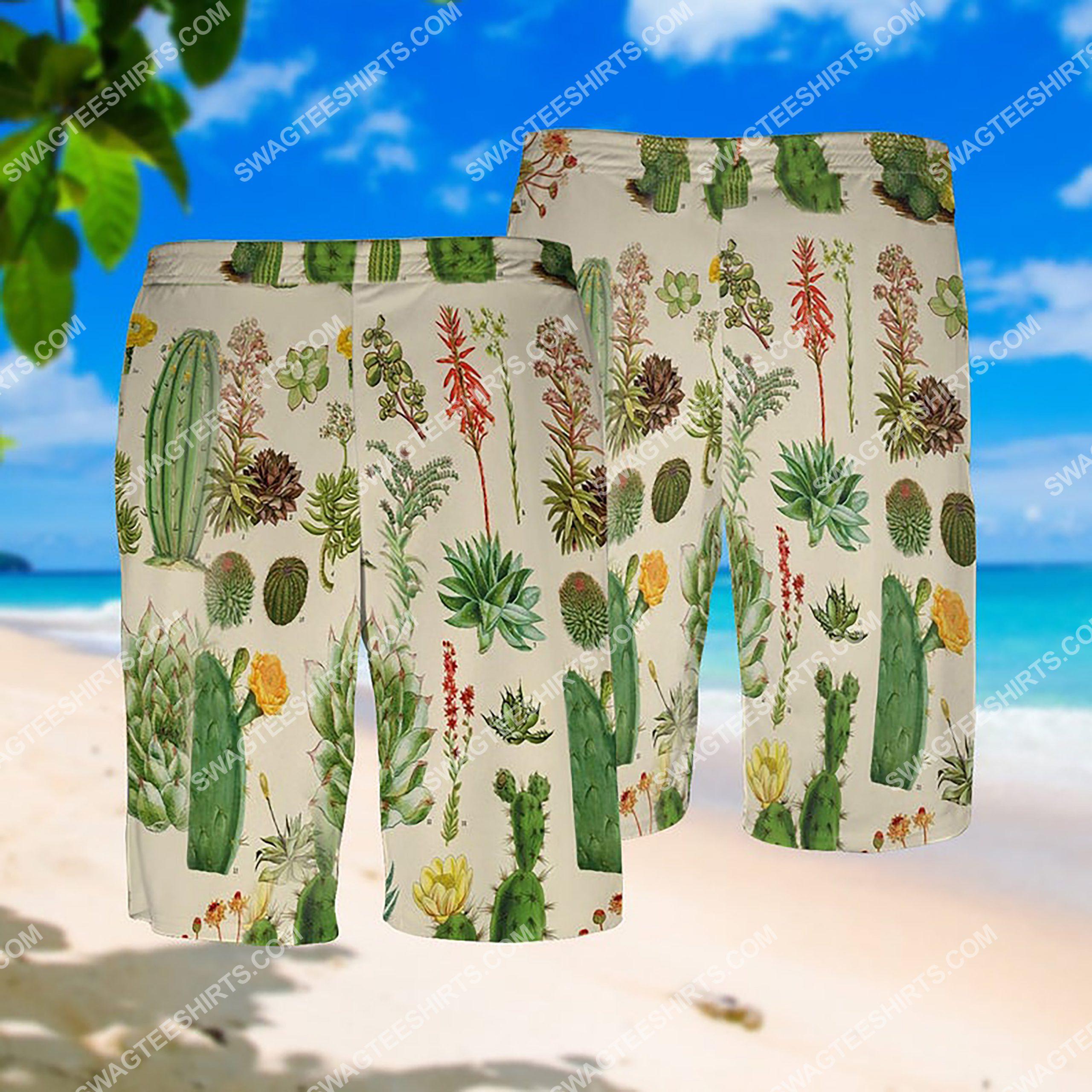 the cactus summer vacation all over print hawaiian shorts 1