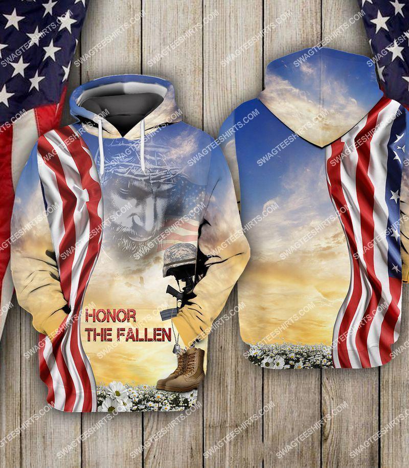 God honor the fallen veterans day full print hoodie(1)