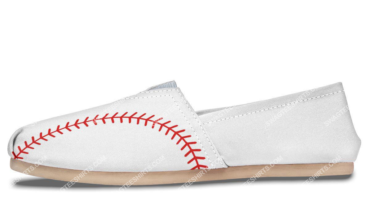 baseball lovers all over printed toms shoes 4(1)