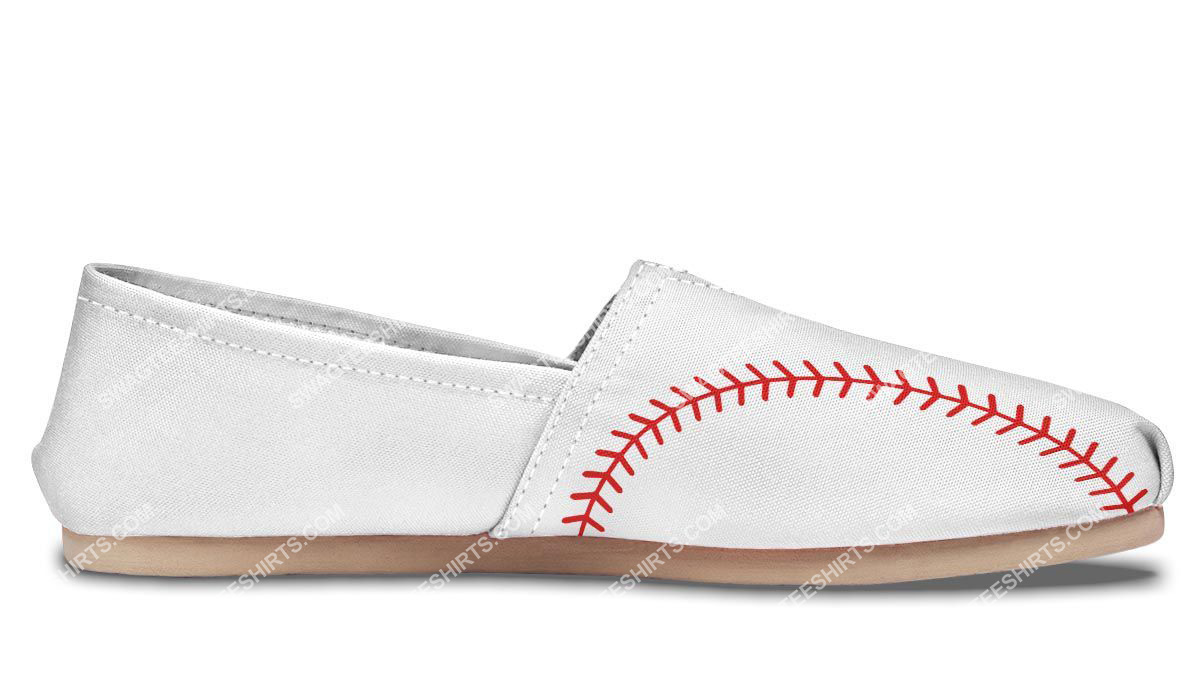 baseball lovers all over printed toms shoes 5(1)