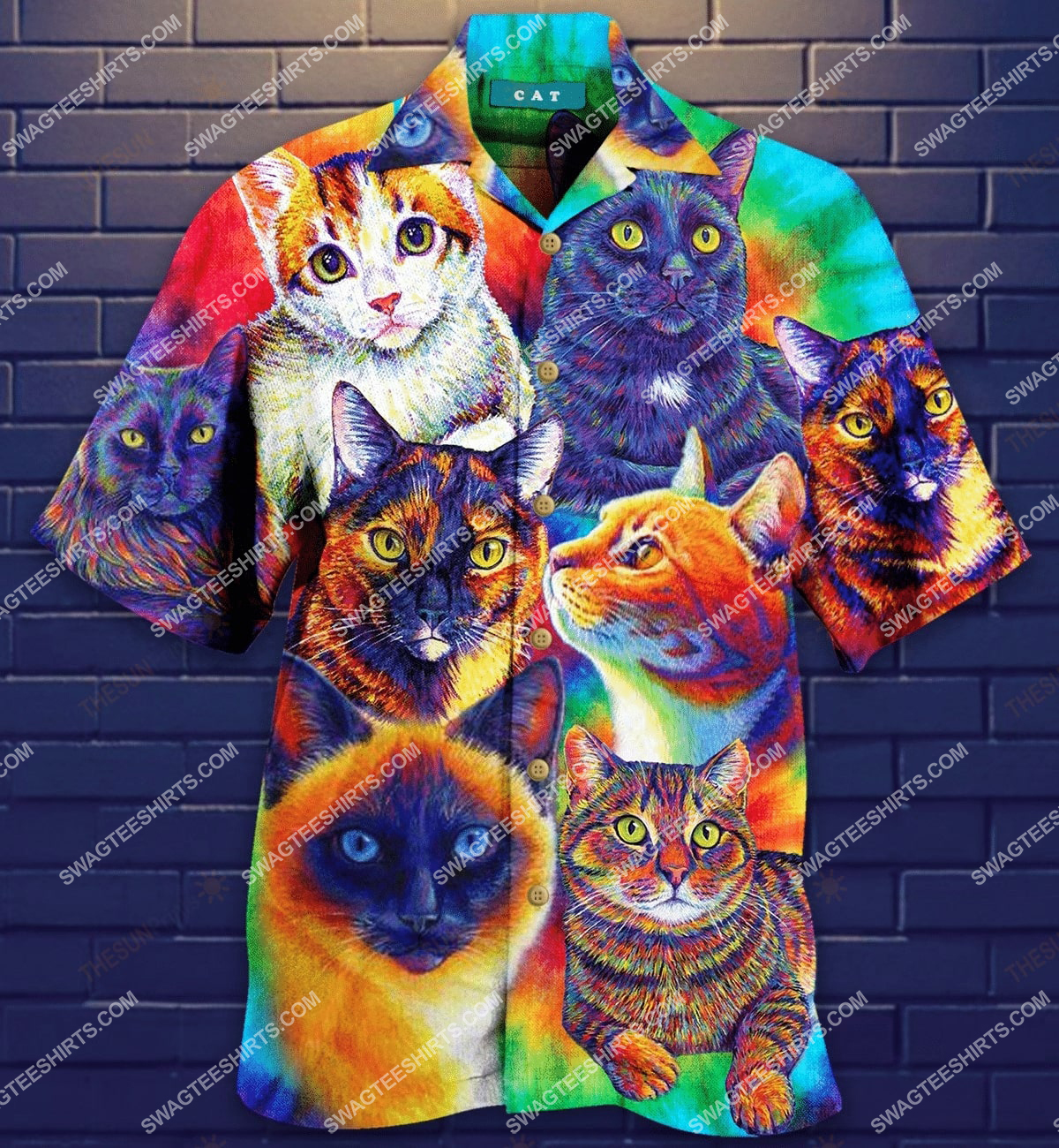 colorful cats lover all over printed hawaiian shirt 1(1) - Copy