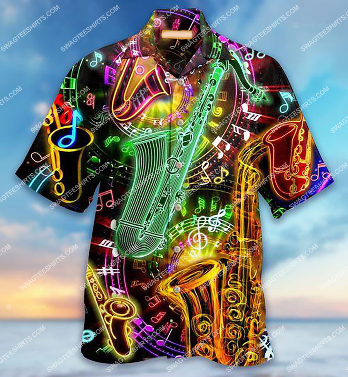 colorful trumpets lover all over printed hawaiian shirt 1(1) - Copy