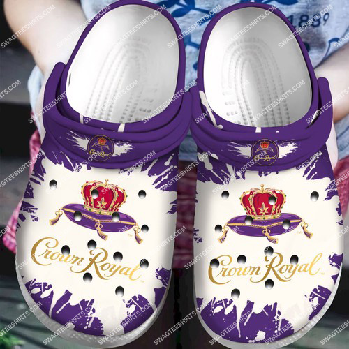crown royal canadian whisky all over printed crocs 2