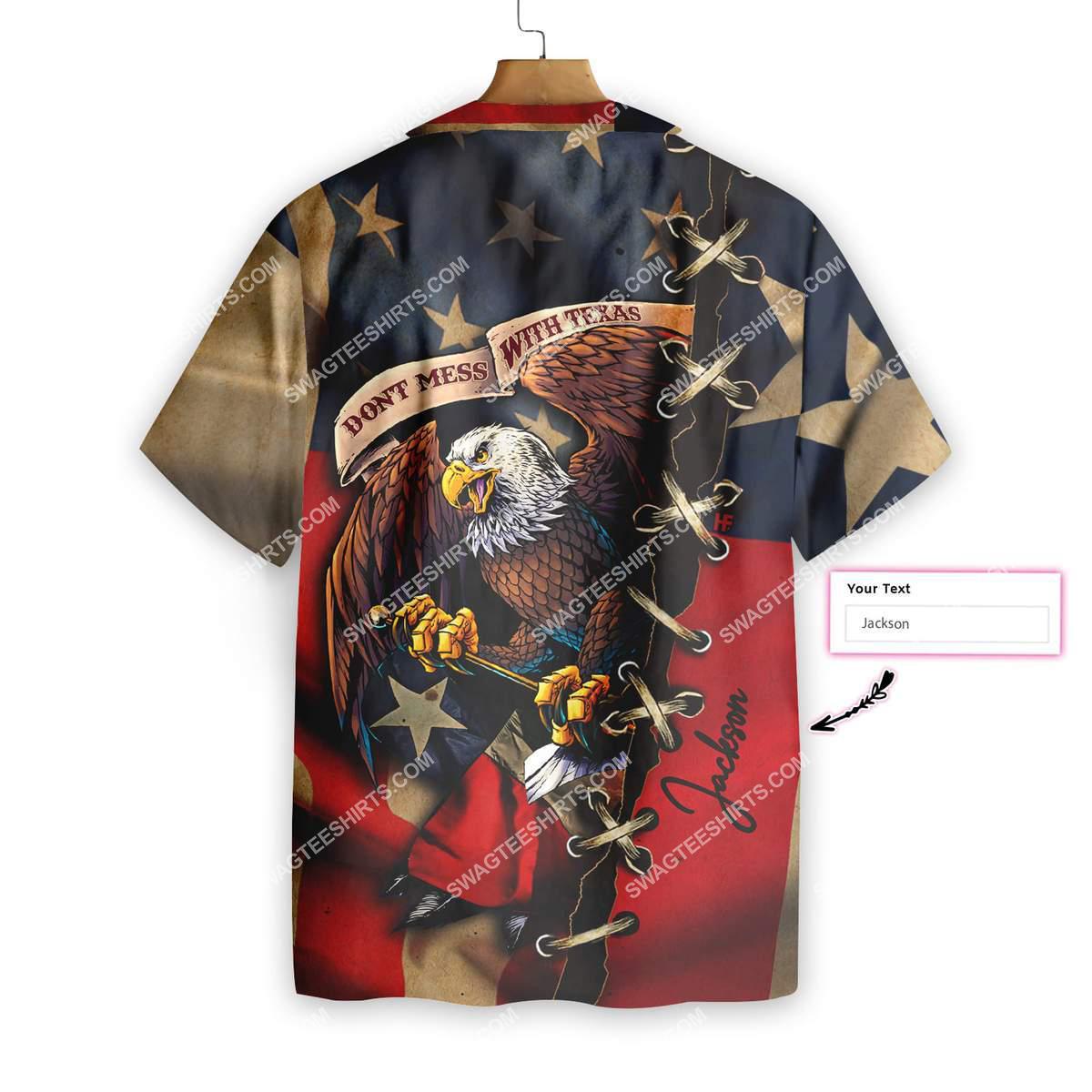 custom name eagle american flag dont mess with texas all over printed hawaiian shirt 4(1)
