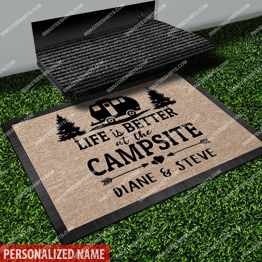 custom name happy camper life is better at the camsite full print doormat 2(2) - Copy