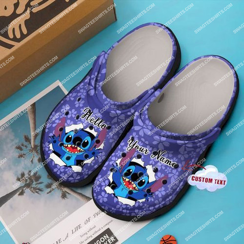 custom name lilo and stitch all over printed crocs 2