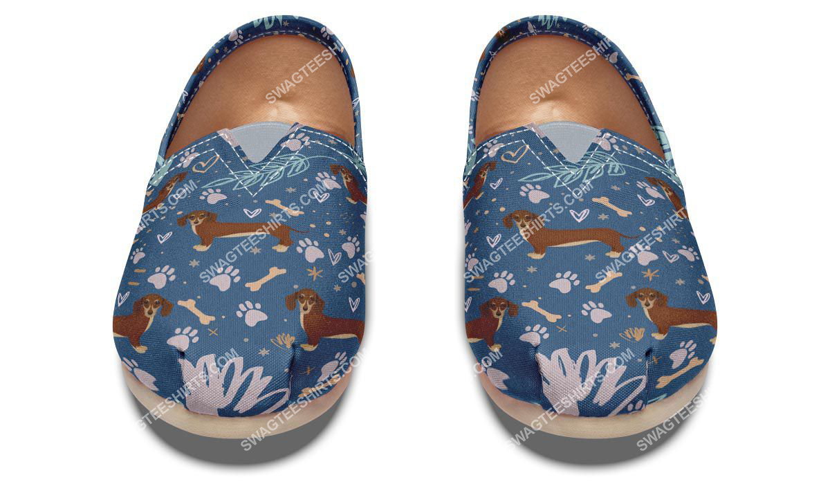 dog lovers dachshund all over printed toms shoes 2(1)