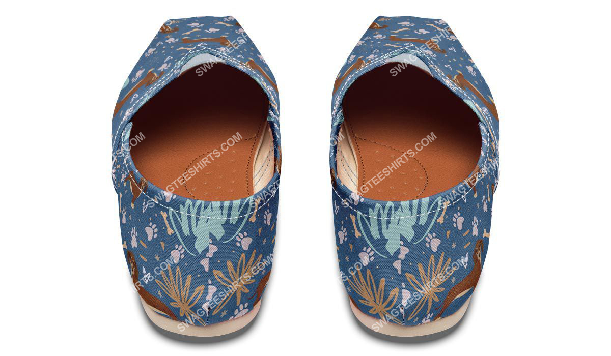 dog lovers dachshund all over printed toms shoes 3(1)