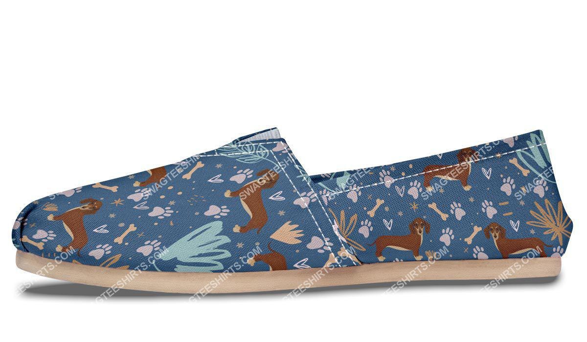 dog lovers dachshund all over printed toms shoes 4(1)