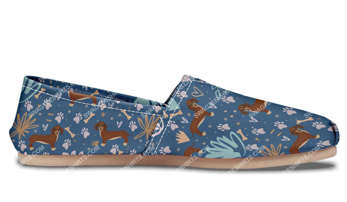 dog lovers dachshund all over printed toms shoes 5(1)