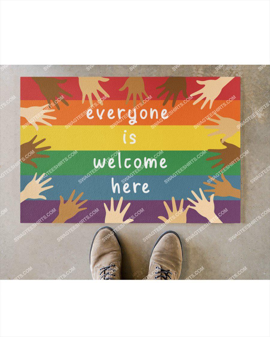 everyone is welcome here diversity hands up full print doormat 3(1)