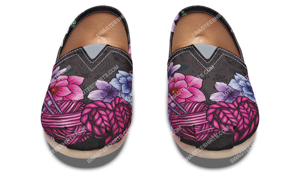 floral knitting vintage all over printed toms shoes 2(1)