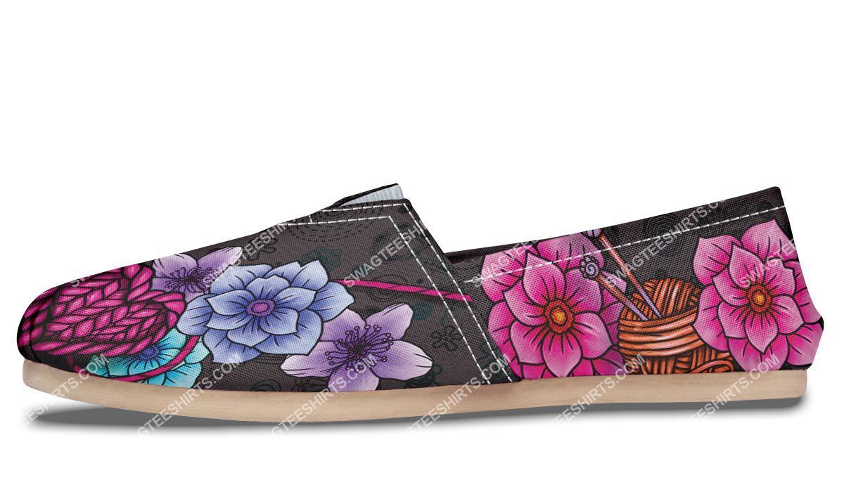 floral knitting vintage all over printed toms shoes 4(1)