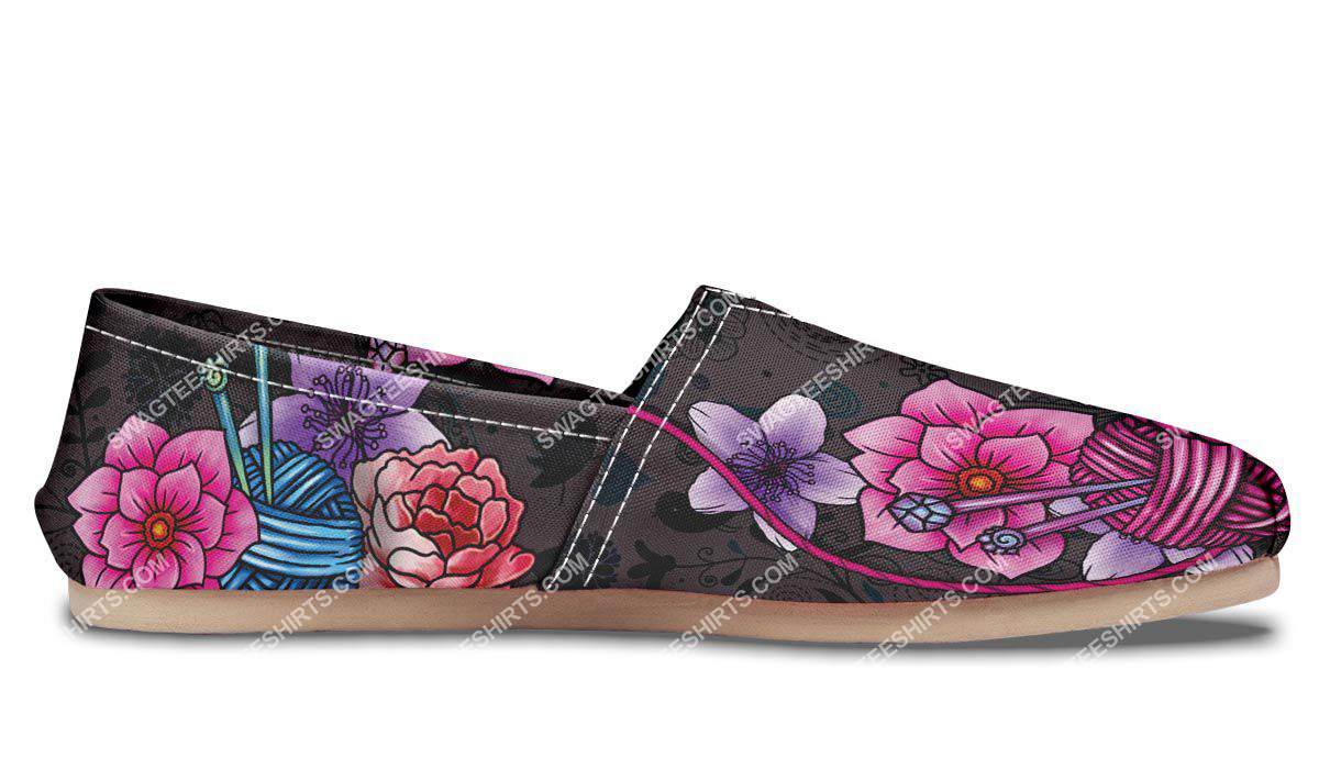 floral knitting vintage all over printed toms shoes 5(1)
