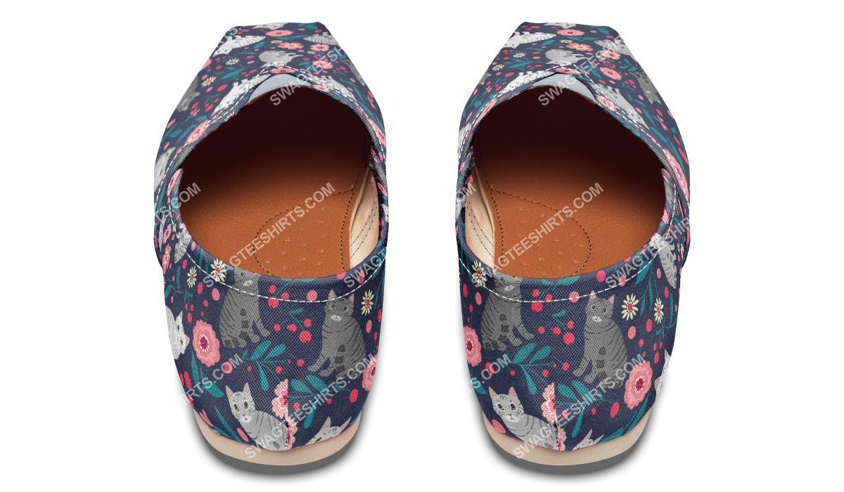 flower and american shorthair cats lover all over printed toms shoes 3(1)